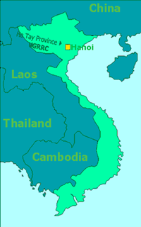 Map of Vietnam showing the geographical location of VGRRC